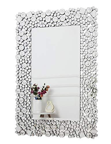 Specchio Rotondo da Parete Specchio da Parete con Cornice in Metallo Specchio da Appendere Rotondo Specchio da Parete A Farfalla Dorata con Catena per Camera da Letto