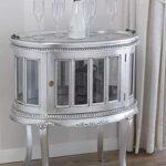 SIMONE GUARRACINO LUXURY DESIGN Tavolino Coloniale Ovale vetrina Bar portabottiglie Stile Barocco Moderno Foglia Argento