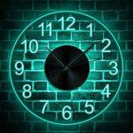 Zcm Orologio da Parete Vintage 12″ Numeri Arabi Orologio da Parete a LED Orologio da Parete in Acrilico Illuminato Decorativo Tondo for la casa Luce